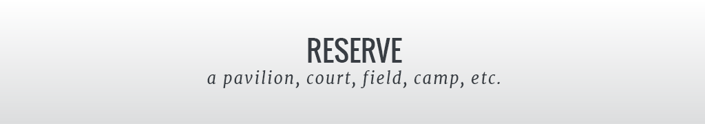 Reserve a pavilion, court, field, camp, etc.