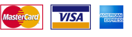 Master Card, Visa, and American Express Cards Accepted
