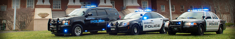Roswell Police Vehicles