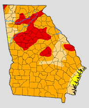 Georgia Drought Map