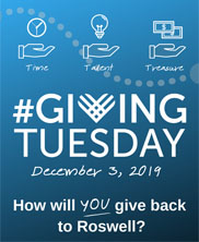 Give Back to Roswell on #GivingTuesday